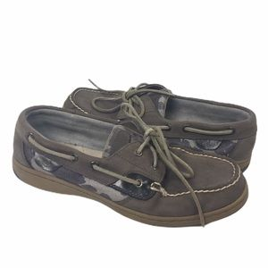 SPERRY | Top Sider shoes leather gray cow print 7